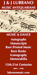 J & J Lubrano Music Antiquarians